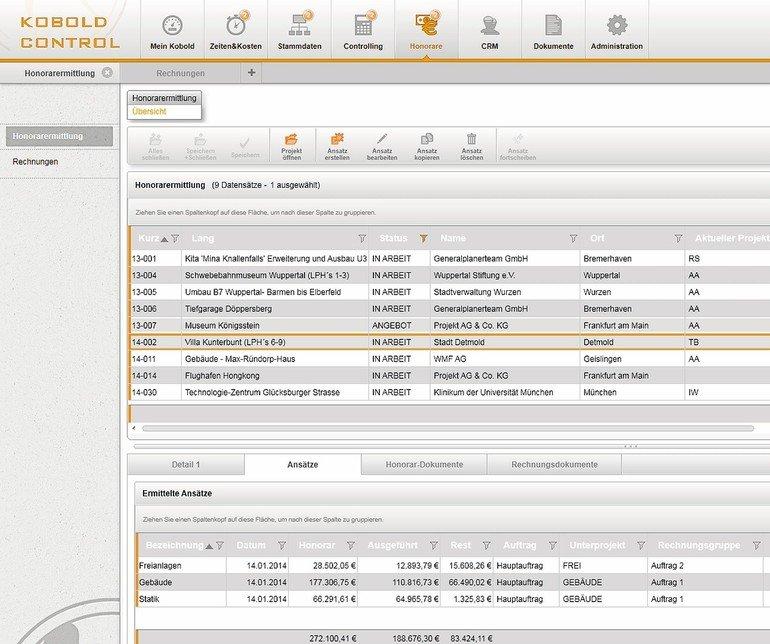 Honorare schnell und rechtssicher erstellen. Bilder: Kobold Management-Systeme