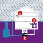 Graphik zur Funktionsweise eines digitalen Rückstauverschlusses für Abwassersysteme. Bild: Kessel AG