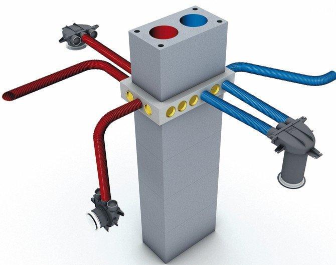 """Aera"""" Luftverteilungssystem (LVS): Optimale Lösung für die Wohnraumlüftung. Bild: Schiedel"""