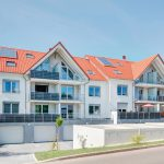 Neubau von Mehrfamilienhäusern in Engelsbrand: Mit Mörtelpads sauber vermörtelt. Bilder: Unipor, München