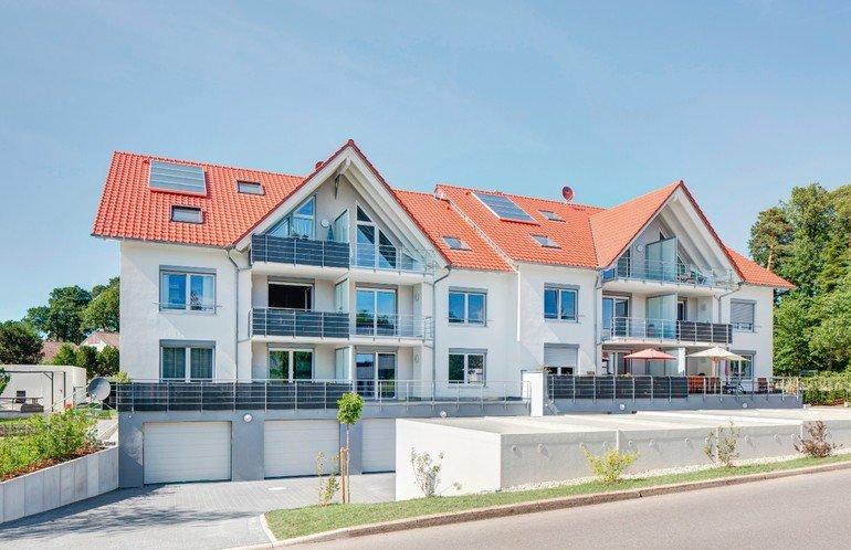 Neubau von Mehrfamilienhäusern in Engelsbrand: Mit Mörtelpads sauber vermörtelt