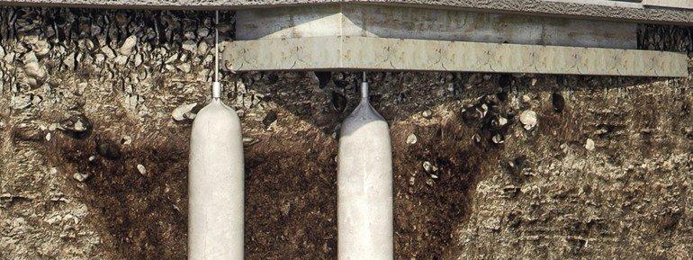 Bodenverbesserung für Lastabtragung mit HybridInjection. Bild: Uretek