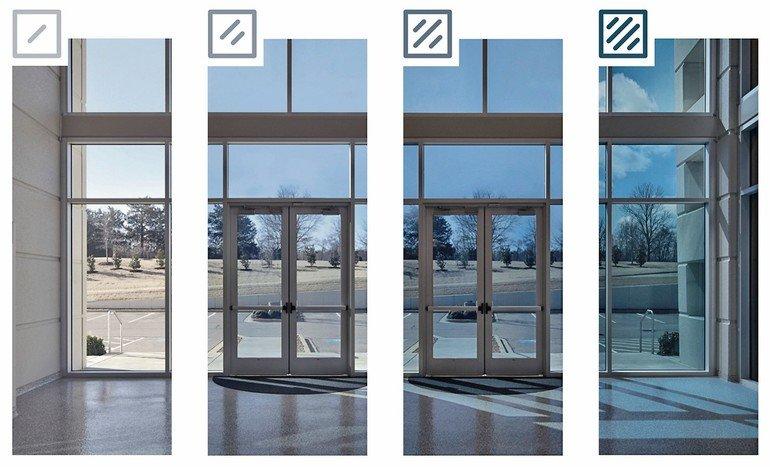 Dynamisches Glas reagiert automatisch