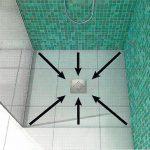 Punktabläufe sollten an zentraler Stelle angeordnet sein, da auf diese Weise das Wasser von allen Seiten auf gleichem Wege zum Ablauf strömen kann. Bild: Kessel AG