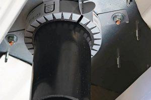 Brandschutzmanschette wie ein Sicherheitsring. Bild: Sita Bauelemente