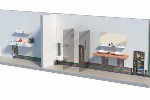 Hygiene-Spülstein für Trinkwasserinstallation. Bild: Uponor