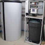 Luftwärmetauscher und Kühlung durch die Wärmepumpe