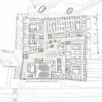 Grundrisszeichnung Forschungs- und Laborgebäude Biomedicum in Stockholm von C.F. Møller Architects