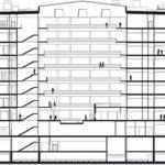 Schnittzeichnung Forschungs- und Laborgebäude Biomedicum in Stockholm von C.F. Møller Architects