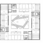 Grundrisszeichnung der Fachhochschule in Muttenz von pool Architekten