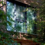 Holzfenster , Baumhaus