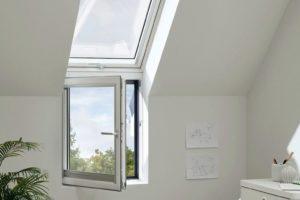 Doppelteiliges Dachfenster Innenansicht, Velux