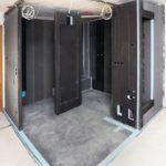 Modulwände, Rohbau Badezimmer
