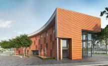 Farbige, UV-beständige Fassadenbahn für offene, hinterlüftete Fassaden
