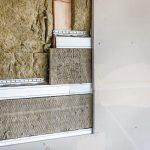 Die Hohlraumdämmung der Holz-Gipsfaserkonstruktion erfolgte mit Steinwolle WLG 035 (A1, Schmelzpunkt 1000°C, Rohdichte = 30kg/m³). Bild: fermacell