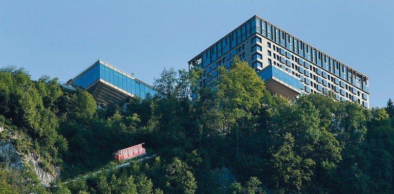 Hoch über dem Vierwaldstättersee im Schweizer Kanton Nidwalden thront das Bürgenstock Resort. Bild: Bürgenstock Hotels & Ressort