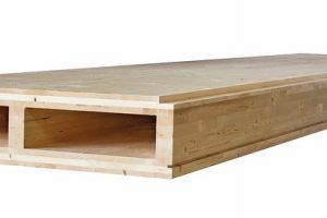 Das Deckenelement best wood CLT Box-Decke als geschlossenes Kastenelement ist statisch hoch belastbar bei großen Spannweiten. Bild: best wood Schneider
