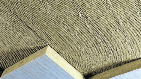Brandschutzplatten für die Ertüchtigung von Stahlbetondecken. Bild: Deutsche Rockwool
