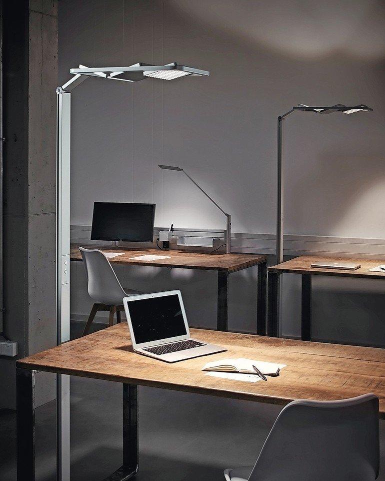 LED-Technik / LED-Stehleuchte: mit separat dimmbaren Segmenten. Bild: Novus