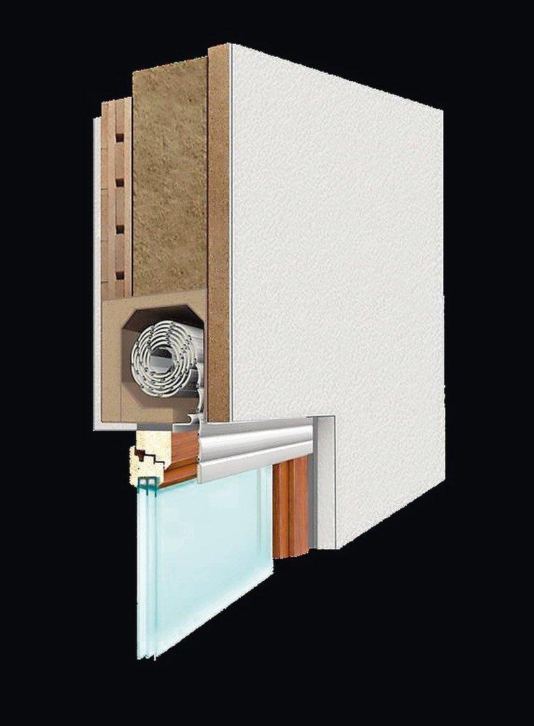 Rollladenkasten aus nachwachsenden Rohstoffen: Holzfasergedämmt bietet Prix Öko Line gute Wärmedämmung und baubiologische Eigenschaften. Bild: Prix
