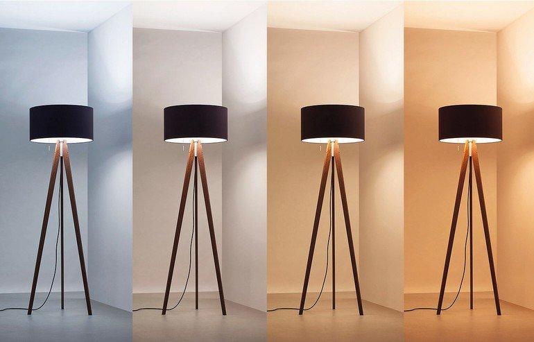 Biologisch wirksames Licht in Stehleuchte. Bild: Waldmann