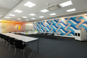 Gestaltungsvielfalt bei schallabsorbierenden Decken- und Wandflächen