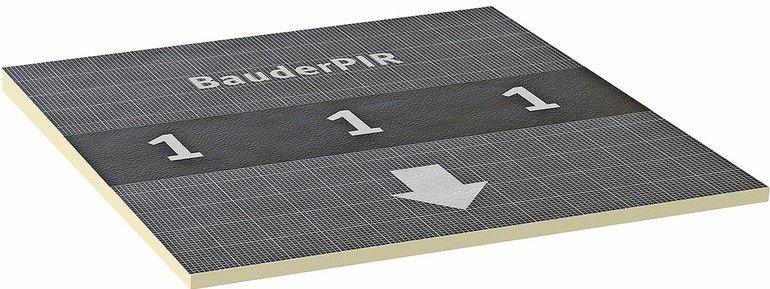Alukaschierte PIR-Gefälledämmung für Flachdächer. Bilder: Bauder