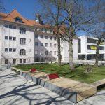 Widerstandsfähige Gipsfaser-Platten für Erweiterung einer Dresdner Schule. Bild: Fermacell