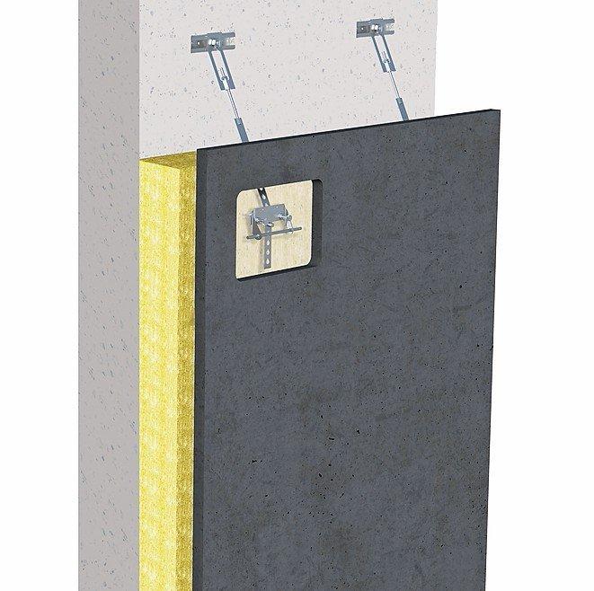 Befestigungssystem für textilbewehrte Betonfassaden