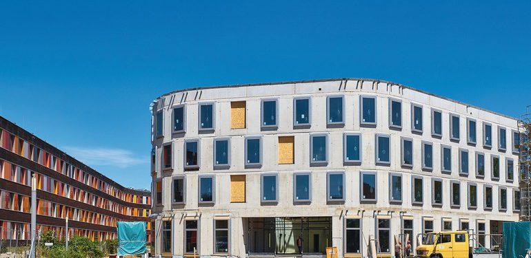 Recycling-Beton beim Erweiterungsbau für das Umweltbundesamt in Dessau