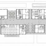 Grundriss Erdgeschoss Herman Teirlinck Gebäude. Zeichnungen: Neutelings Riedijk Architecten