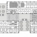 Grundriss 1. Obergeschoss Herman Teirlinck Gebäude. Zeichnung: Neutelings Riedijk Architecten