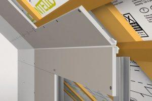 Bewegungsfugen-Formteil für Übergang von Wand und Schräge sorgt für schadensfreie und zeitsparend zu montierende Bauteilverbindung. Bild: Formteilbau Schmitt