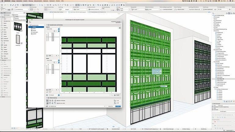 Freiform-Fassadengestaltung mit Live-Schnittstelle zu Design-Werkzeugen