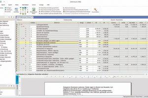 LV-Bearbeitung mit Langtext. Bild: G & W Software