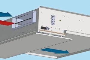 Fassadenlüftungsgerät für den Deckeneinbau: Eine Öffnung genügt