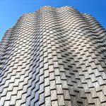Insgesamt 5425 Aluminiumschindeln wurden an dem Gebäude verbaut. Bild: Pohl Facade Division