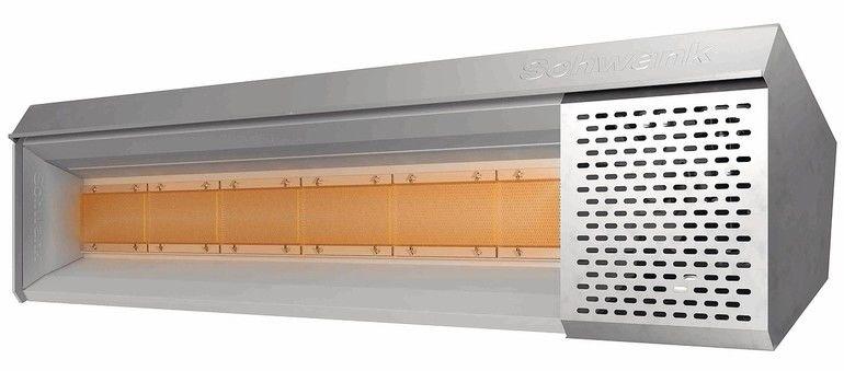 Hellstrahler-Hallenbeheizung mit Verbrennungsluftanpassung