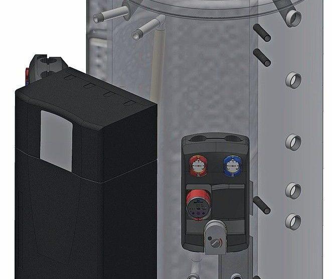 Schichtenspeicher zum Direktanschluss eines Frischwassererwärmers. Bild: varmeco