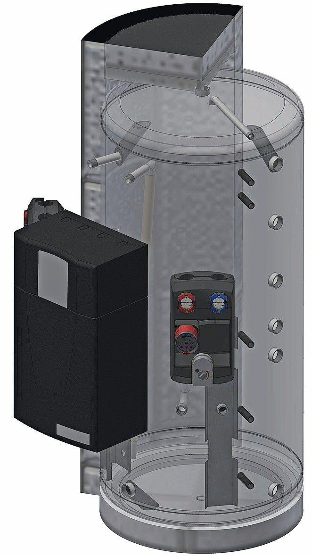 Schichtenspeicher zum Direktanschluss eines Frischwassererwärmers
