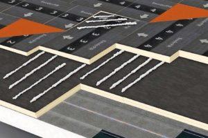 Schaubild Verklebung von Isolierplatten. Bild: Bauder