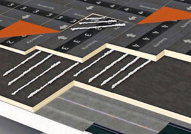 Schaubild Verklebung von Isolierplatten