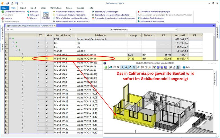 Liste in California.pro für Fertigbauteile im Gebäudebau