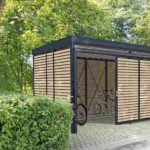 Überdachte Fahrradabstellbox. Bild: Gerhardt Braun
