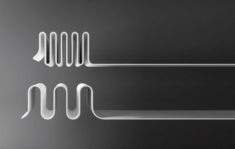 Das neue Produkt Hi-Macs Ultra-Thermoforming erlaubt eine um 30% höhere Verformbarkeit und eröffnet damit völlig neue gestalterische Dimensionen. Bild: Hi-Macs