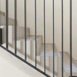 Um die Gefahr von Schallbrücken zu minimieren, wurden die Treppen mithilfe der Schöck Tronsole Typ F vollflächig vom Podest getrennt. Bild: Schöck Bauteile GmbH