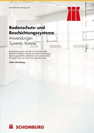 Neue Broschüre: Bodenschutz- und Beschichtungssysteme