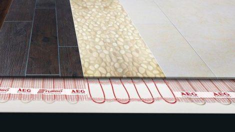 Heizmatten-System, ultraflach, ist ideal für Nachrüstung. Bild: AEG Haustechnik