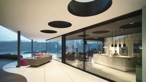 Großflächiges Schiebefenster von air-lux. Bild: air-lux