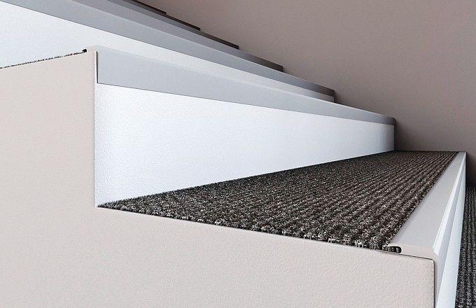 Zuverlässigen Schutz für die stark beanspruchten Treppenkanten. Bild: Döllken Profiles GmbH